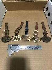 Vintage Lot Of 5 Heavy Equipment Advertising Watch Fob Galion Ohio Graders Set