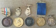 Various school attendance medals 19th century including sterling silver