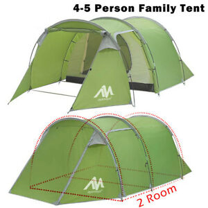 4-5 Person Family Camping Tent Outdoor Hiking Dome Tunnel with Bag