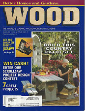 WOOD  Magazine August 1994 Issue No.71 country patio set, sunny-day sandbox