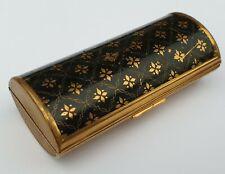VINTAGE GOLD TONE /BLACK KIGU CIGARETTE CASE 1950s