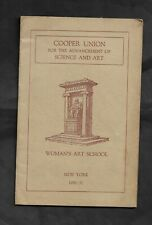 1930-31 COOPER UNION WOMAN'S ART SCHOOL CATALOG