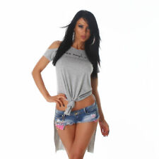 Cotton Blend Cut Out Casual Tops & Shirts for Women
