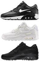 NIKE AIR MAX 90 LEATHER BIANCO NERO scarpe donna ragazzo uomo pelle sneakers
