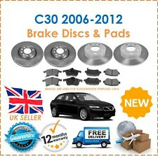 For Volvo C30 2006-2012 Two Front & Two Rear Brake Discs & Brake Pads Set New