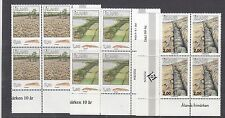 ALAND : 1993-5 Aland Geology  set SG 71-9 never-hinged mint blocks of four