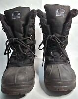Sorel Boots Winter Snow Cumberland Insulated Lace Up Black Women's Size 10