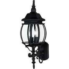 Maxim Lighting Crown Hill 3-Light Outdoor Wall Lantern Black - 1033BK