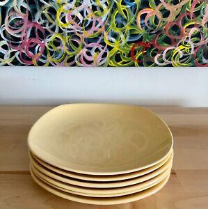 Vintage Johnson Brothers Bros Australia utility ware 6 pastel yellow plates