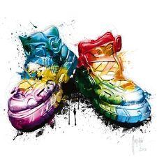 Patrice Murcian: my Zapatos imagen terminada 50x50 Mural Botas Pop de colores