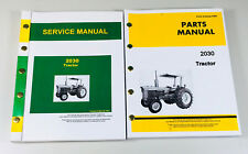 Service Manual Parts Catalog Set For John Deere 2030 Tractor Repair Shop Book