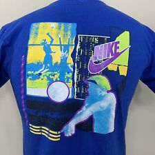 Vintage Nike T Shirt Grey Tag Volleyball Men's Small Tee Single Stitch 90s