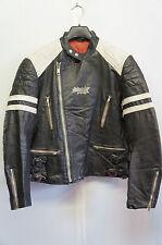 Vintage effet vieilli cuir perfecto veste moto taille 50