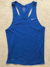 Nike Dri Fit Race Day Running Singlet Size SMALL Men's Shirt Tank Blue