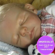 """Reborn baby doll vinyl kit unpainted W/  FREE GIFT Ryan 20""""  parts only"""