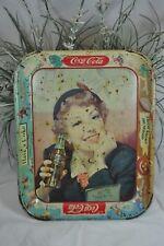 """Vintage Coca-Cola Tray~Menu Girl~1953~10 5/8""""x13 1/4""""~Original Coke Advertising"""