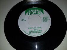 """LOS MANANEROS DE NUEVO LEON Carita De Angel / Llorar RELOJ 182 45 VINYL 7"""" LATIN"""