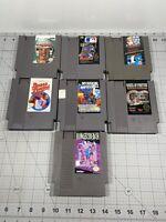 LOT of 7 Nintendo NES Cartridge Used Vintage Video Games UNTESTED
