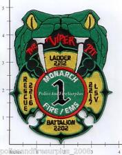 Missouri - Monarch MO Fire Dept Patch Batt 220 Rescue 2216 Ladder 2212 LSV 2217