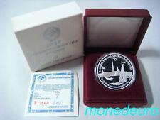 (260) RUSIA 1990 3 RUBLOS DE PLATA PROOF HISTORIA RUSA KM#249