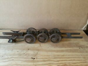 "VINTAGE  Model Live Railroad Train Locomotive Chassis & Trucks 3 1/2"" Wheels"