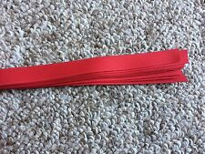 Grosgrain Hat Band Pony Tail Hair Band Craft Ribbon Pkg 25 Straight Edge - Red