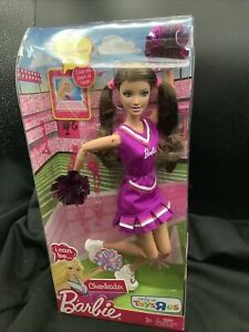 Barbie Cheerleader Toys R Us Exclusive Purple Outfit Brunette T6341 NRFB