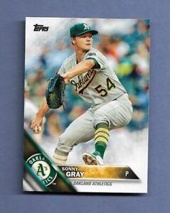 2016 TOPPS SONNY GRAY BASEBALL CARD #4 - OAKLAND A'S