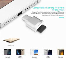 USB 3.1 Type C Micro SD TF Card Reader OTG Adapter Metal For Samsung Galaxy S8