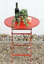 """Tisch """"Passion"""" D-65 cm aus Metall 3607 Rot Gartentisch Bistrotisch Klapptisch"""
