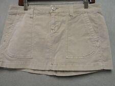 D1644 Aeropostale Beige Corduroy Cool Stretch Mini Skirt Women 33x10