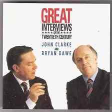 JOHN CLARKE & BRYAN DAWE Great Interviews of the Twentieth Century CD 1990 oz