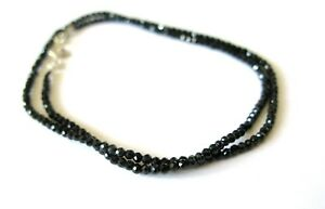 2-3mm AAA Black Spinel Gemstone Rondelle Faceted Beads Beaded Jewelry Necklace