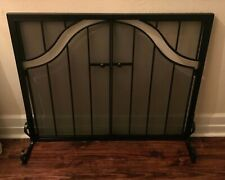 Fireplace Screen With Doors Flat Guard Fire Screens Iron Heavy & Well Made