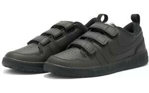 NEW Boys Ladies Girls Nike Pico 5 Triple Black School Trainers Shoes UK Size 6