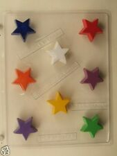 STAR BITE SIZE CLEAR PLASTIC CHOCOLATE CANDY MOLD LCA020