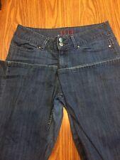 Elle Women's Blue Jeans Size 8  1% Spandex Double Button Fastener