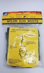 Nylon Dog boots size Large dark green waterproof hiking double-ply health tips