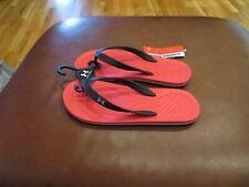 NWT Boys Red Under Armour Atlantic Dune Flip Flops, Size 2