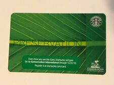 Rare NEW Starbucks Card 2009 Preservation Conservation Limited Edition Old Logo