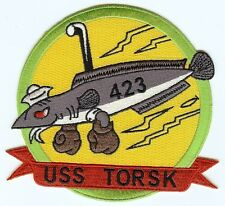 USS Torsk SS 423 - Fish, Bx Gloves, Scope, Red Ribbon BC Patch Cat No C5596