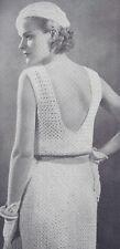 Vintage Crochet PATTERN to make Sun Dress Bolero Jacket Hat NOT finished Item
