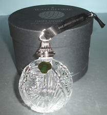 """Waterford Times Square Crystal Ball Ornament 2014 """"The Gift of Imagination"""" New"""