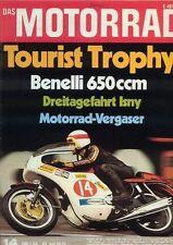 M7114 + BENELLI Tornado 650 ccm + Tourist Trophy + Das MOTORRAD 14/1971
