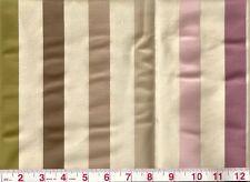 Wow! Silk Linen American Silk Mills Upholstery Fabric Carousel Stripe Hydrangea