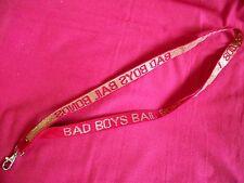 Bad Boys Bail Bonds Lanyard Keychain Ticket ID Tag Clip Key Badge Holder Neck