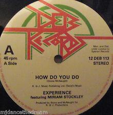 "EXPERIENCE - How Do You Do ~ 12"" Single"