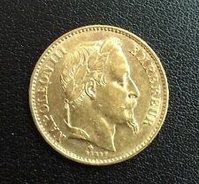 Piece 20 Francs Or Napoleon III tete laurée Boursable