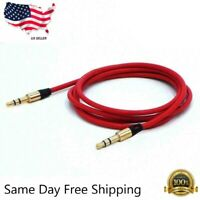 Aux Cable 3.5mm Male to Male Auxiliary Audio Cord 1M for Car PC Phone