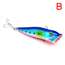 1pc Popper Fishing Lures Plastic Bass Baits Fishing Tackle for Top Water B
